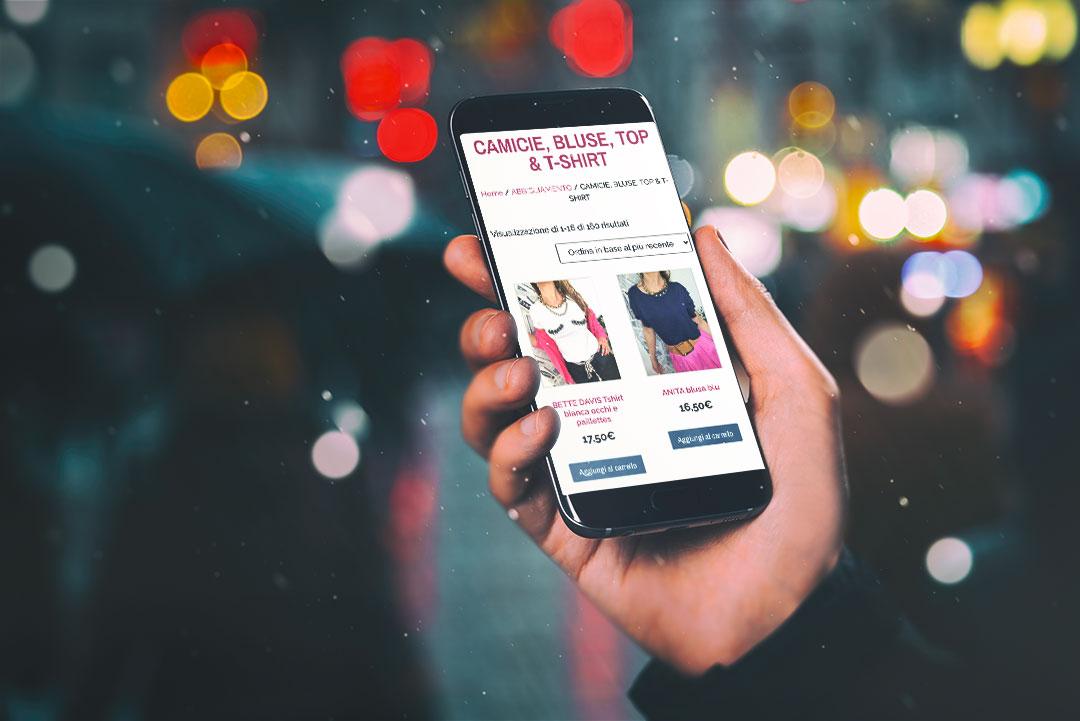 e-commerce responsive servizio vendita online rosa velvet