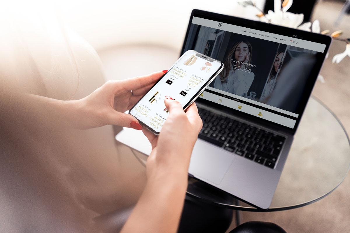 RF cosmetici sito web e-commerce
